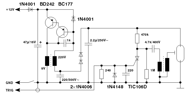 stroboscopic timing light citro�n bx do it yourself Basic Light Wiring Diagrams when buying the components, note that two capacitors are rated for ac voltage the transformer in the dc dc converter can be a simple 220 v to 9 v mains